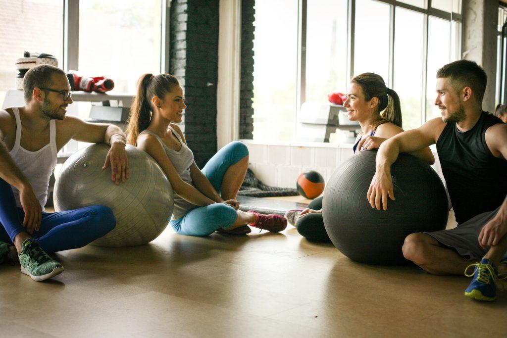 fitness marketing, millennials resting after workout