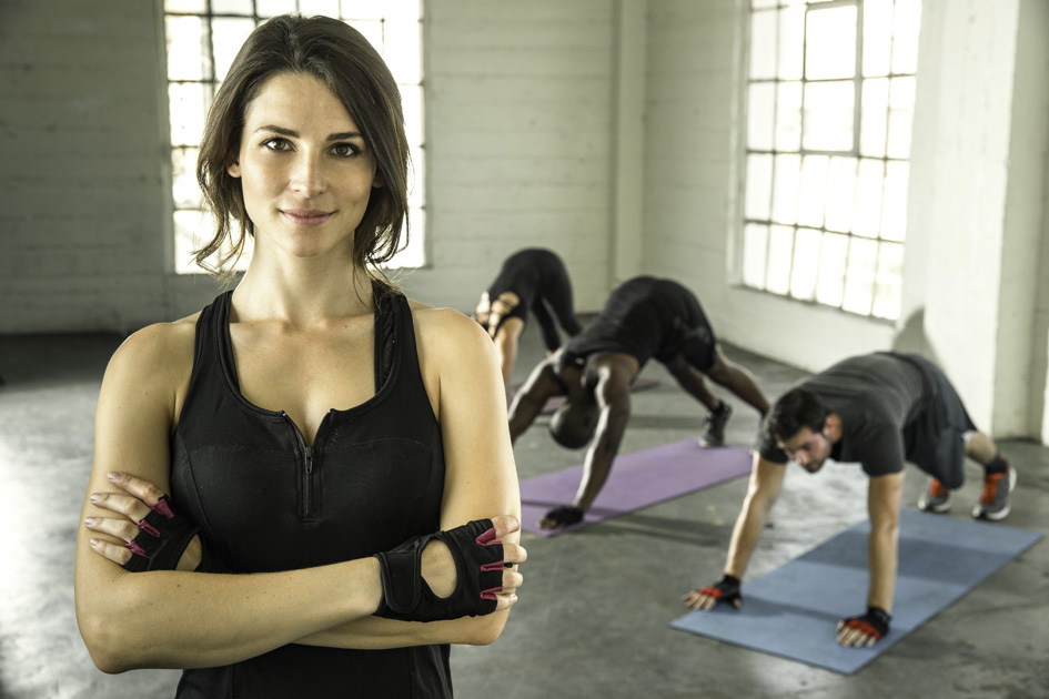 healthy work-life balance, gym owner with clients