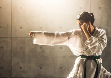 martial arts marketing, Woman practicing karate