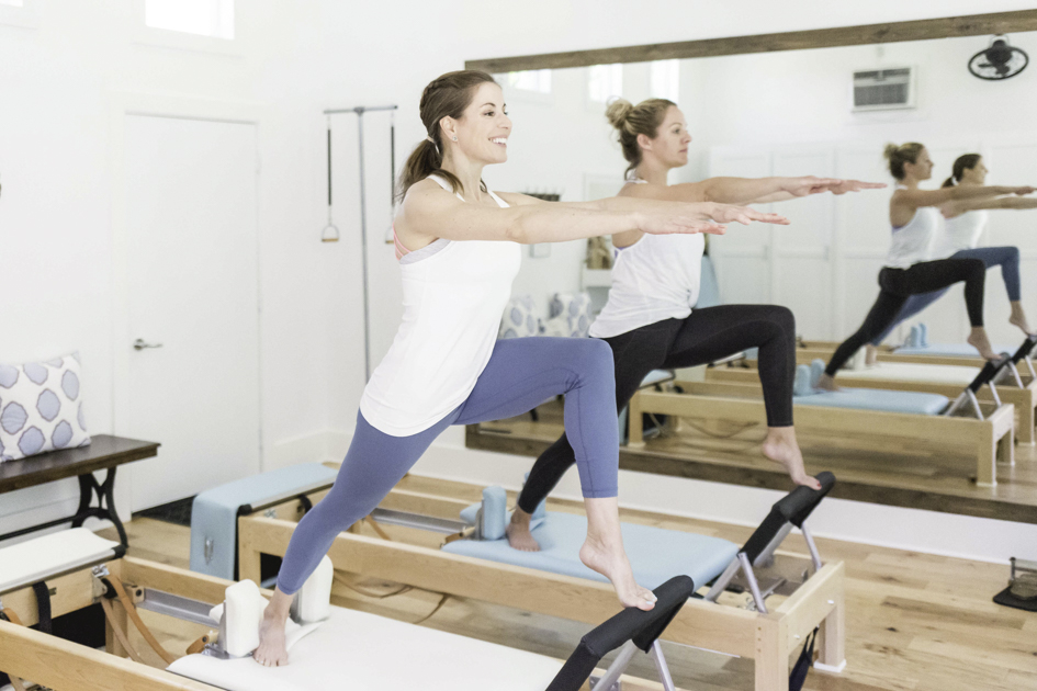 Authentic Pilates of Austin, Lindy Irwin and Pilates client