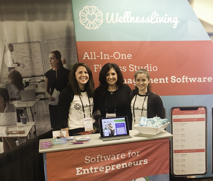 Club Industry Show, WellnessLiving booth
