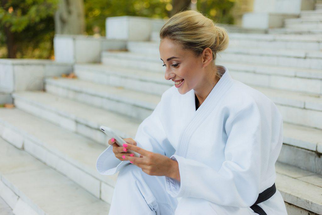 Martial arts studio, positive reviews