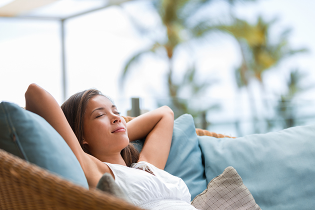 social distancing, woman relaxing