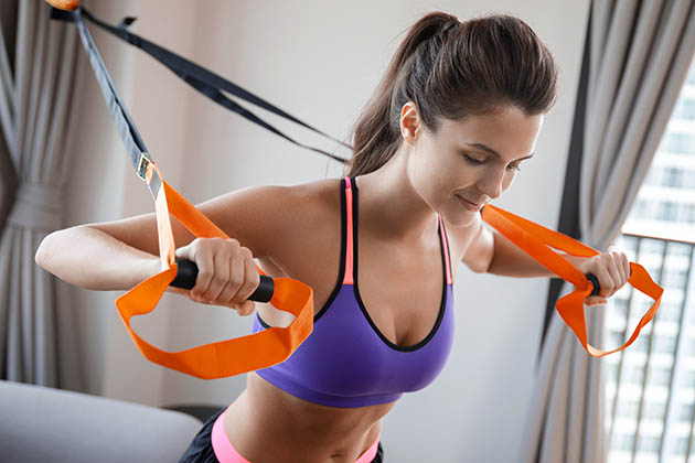 renting out your equipment, woman doing workout