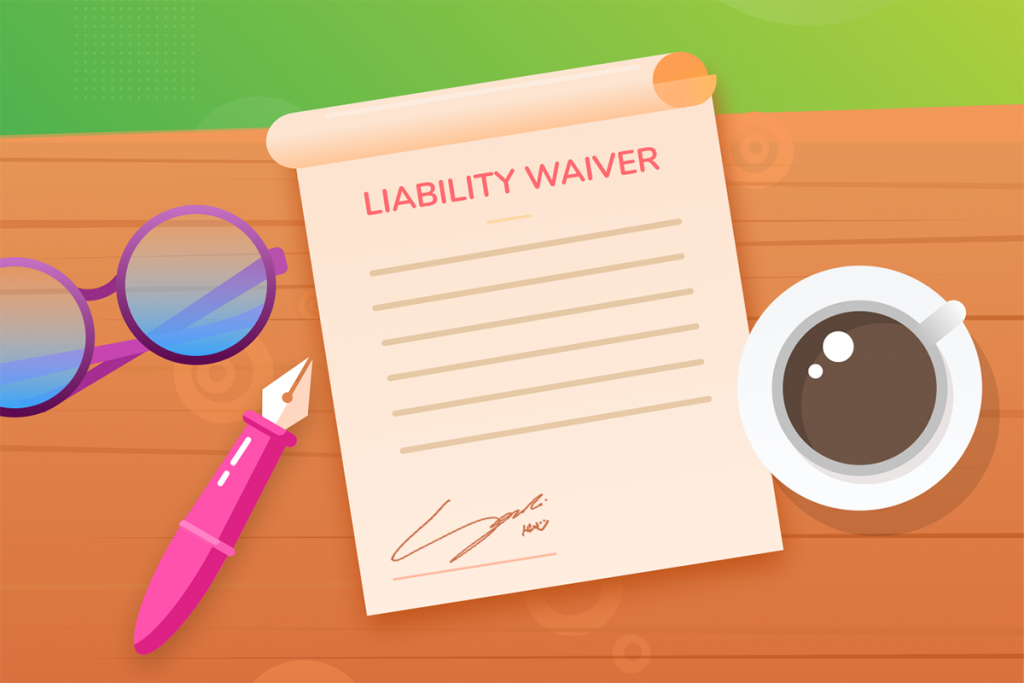 liability waiver, blog version