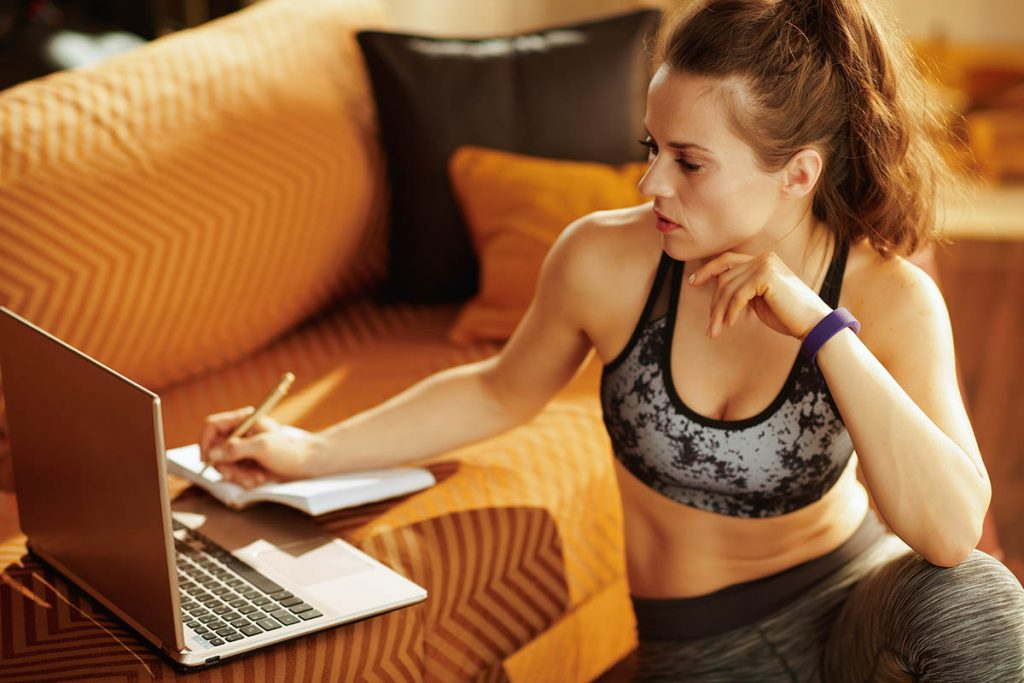 online services, fitness woman gone virtual