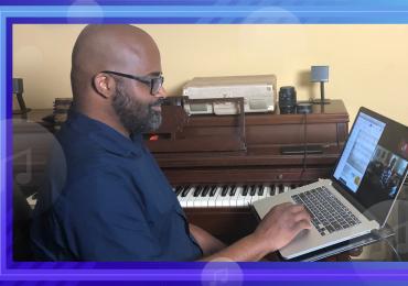 Morris Music Academy, Tracy Morris doing virtual lesson