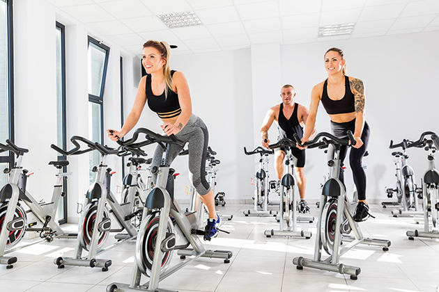 BOOK-A-SPOT, group on spin bikes