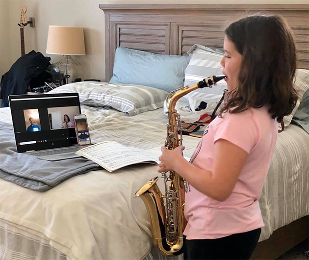 Morris Music Academy, saxophone student