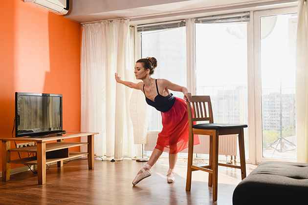 online dance classes, ballet dancer exercise