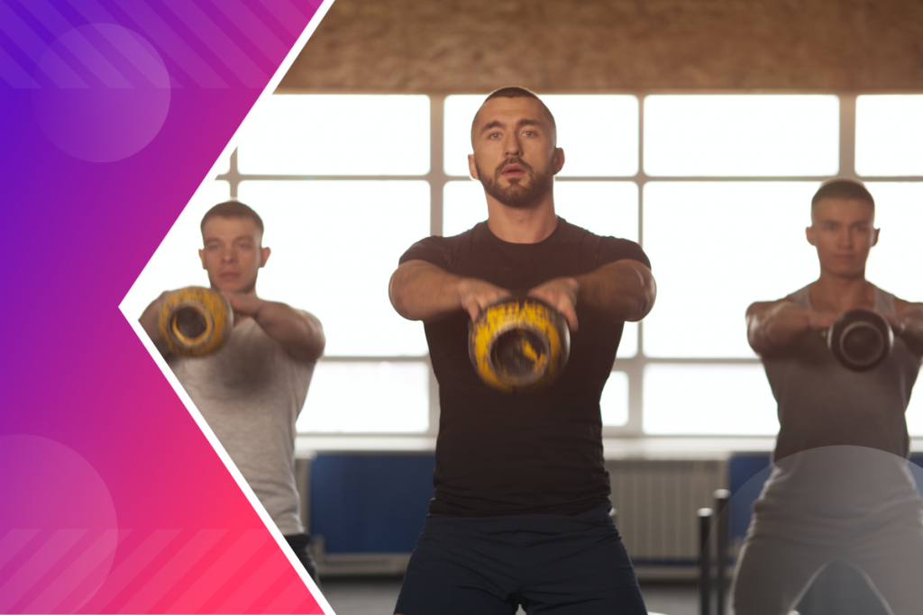 increase revenue, men working out with kettlebells