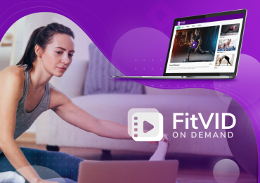 FitVID on Demand, woman taking a video class