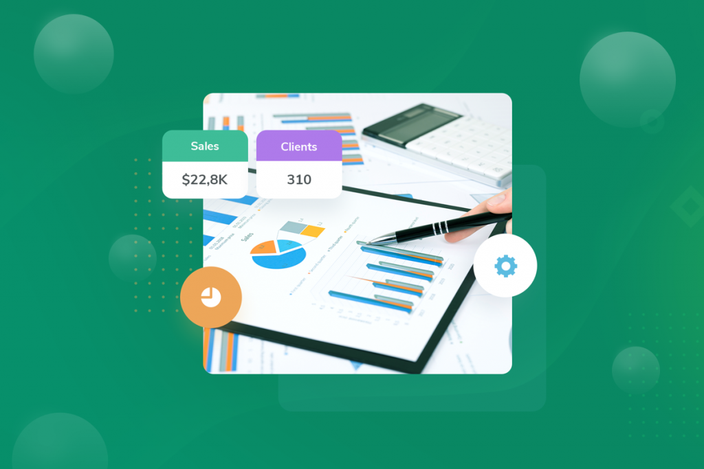 grow your business, charts with key insights