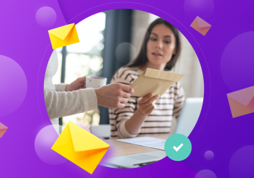 direct mail marketing, mail blog image woman getting a letter