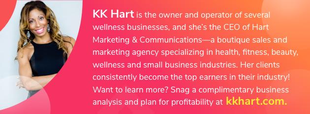 fitness business, KK Hart graphic