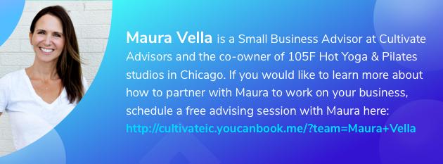 business advisor, Maura Vella graphic