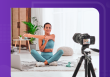 take your business virtual, woman with video camera