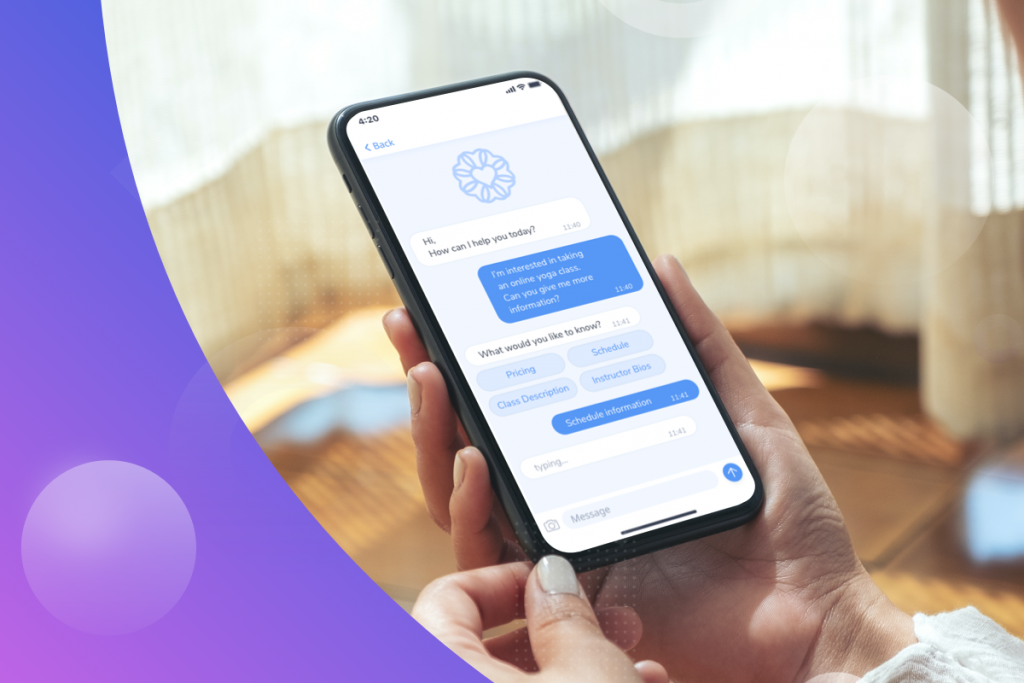 automated chatbots, mobile phone with a chatbot