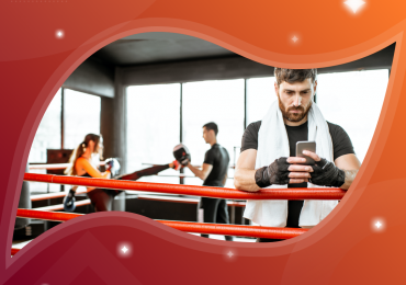 take your martial arts studio mobile, martial artist with phone