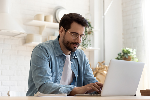 deliver your virtual services, man at a computer