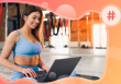 attract new members to your fitness business, woman at her computer
