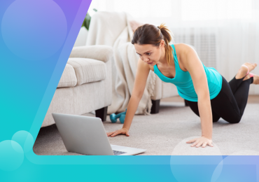 fitness clients, women working at online