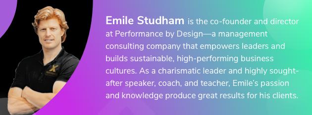 best leadership practices, Emile Studham bio