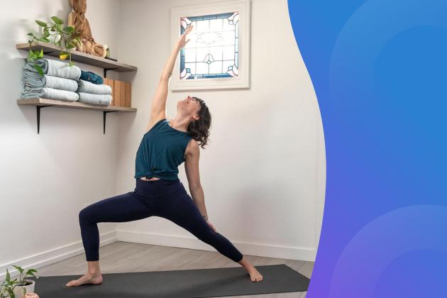 virtual workshops, yoga pose
