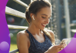 SMS marketing, woman texting