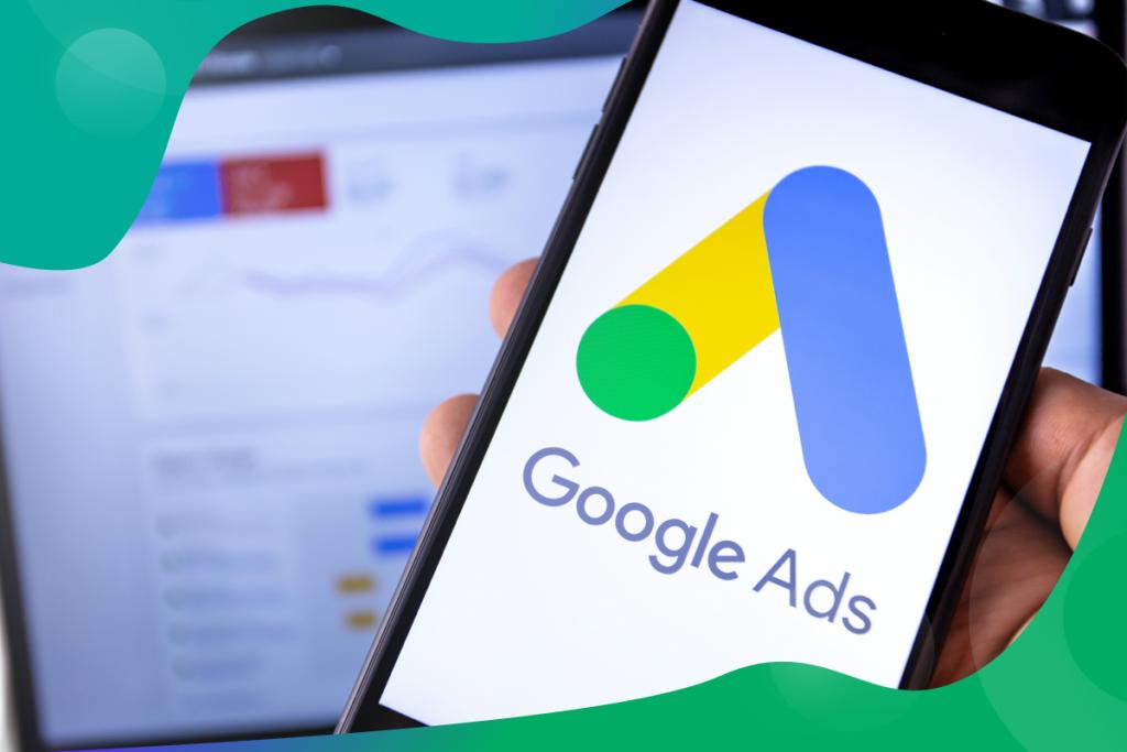 Google ads, Google ads app on a mobile phone