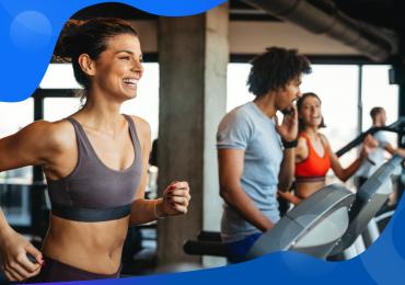 lifetime value, woman running on a treadmill