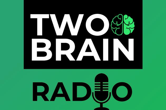 fitness business podcasts, two-brain radio logo