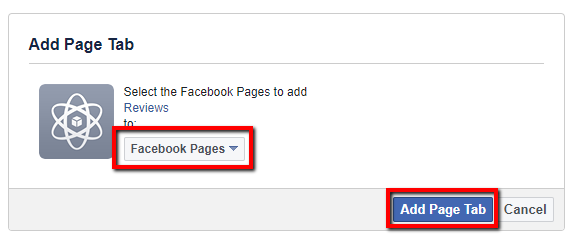 Select Facebook page