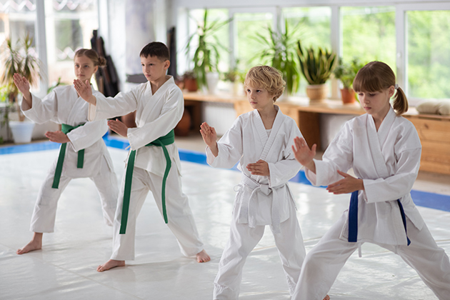 martial arts studio, kids class
