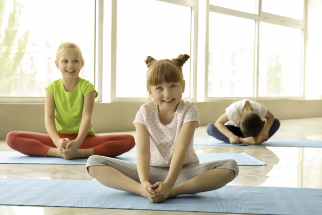 yoga lessons for kids, Little children practicing yoga