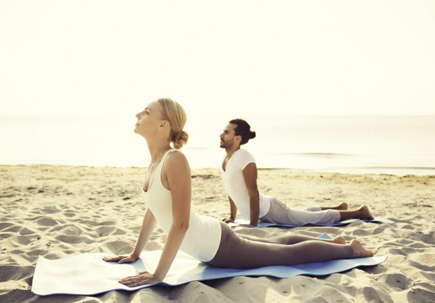 hot yoga studio, yoga on the beach