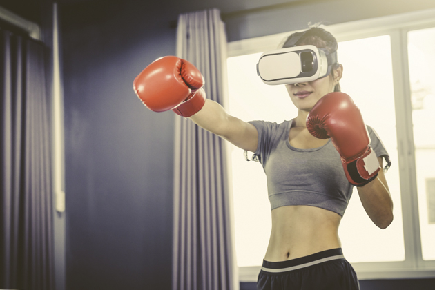 fitness industry technology trends, virtual reality training