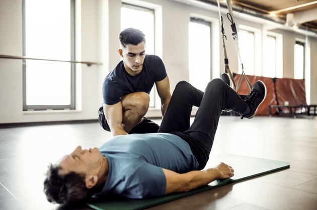 personal trainer mistakes, personal trainer and senior client