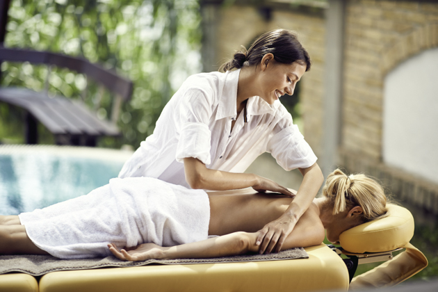 Update your wellness center, masseuse with client