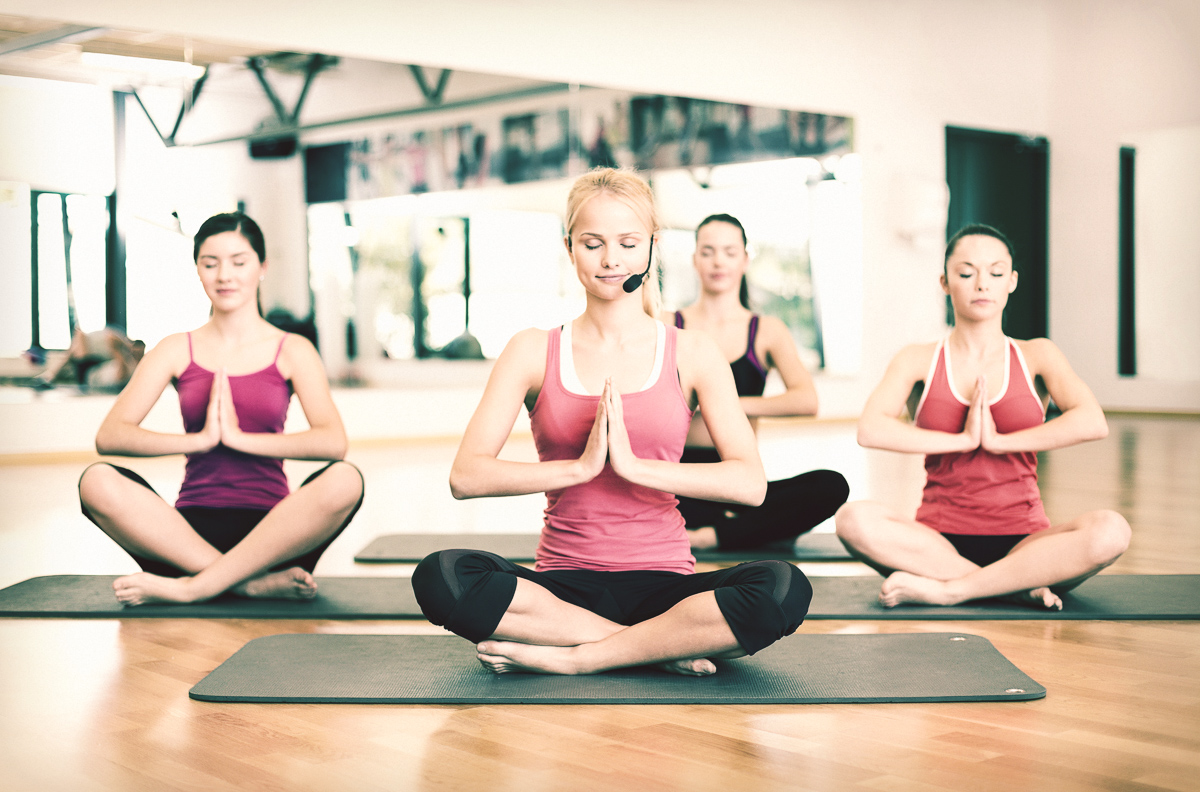start a yoga studio, happy yoga class