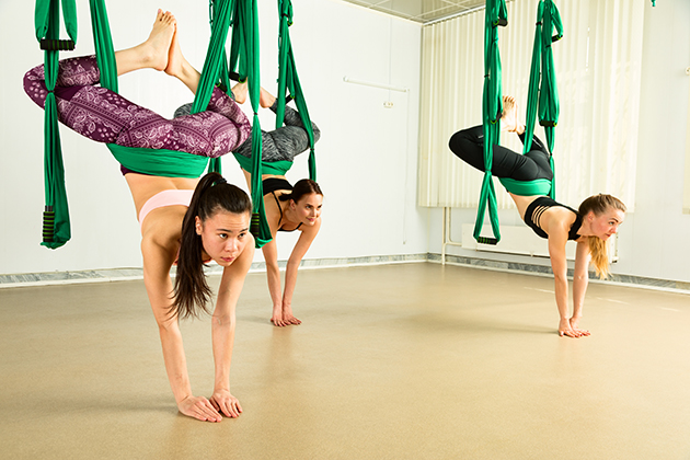 yoga for teens, young aerial yoga