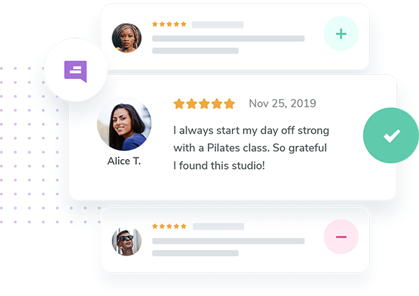 Easily manage your customer's reviews in order to respond and react.
