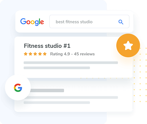 WellnessLiving and Google have partnered so your reviews show up on the first page of Google