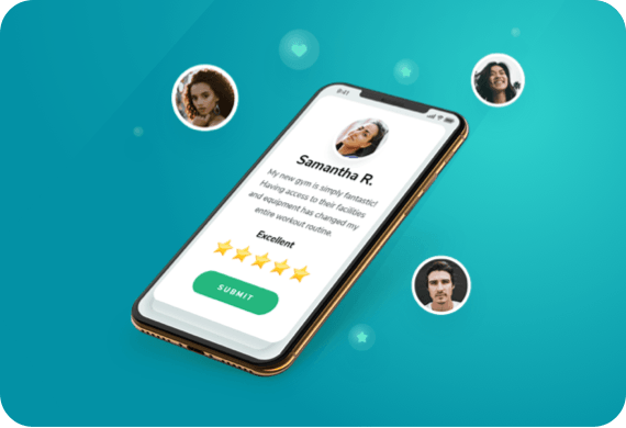 Leave customer reviews through business software app