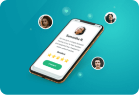 Leave customer reviews through business management app.